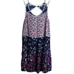 Umgee USA Mult-Print Floral Sleeveless Dress